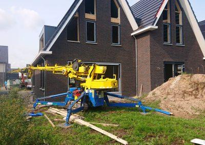 Heerenveen nieuwbouw triple compacthijskraan